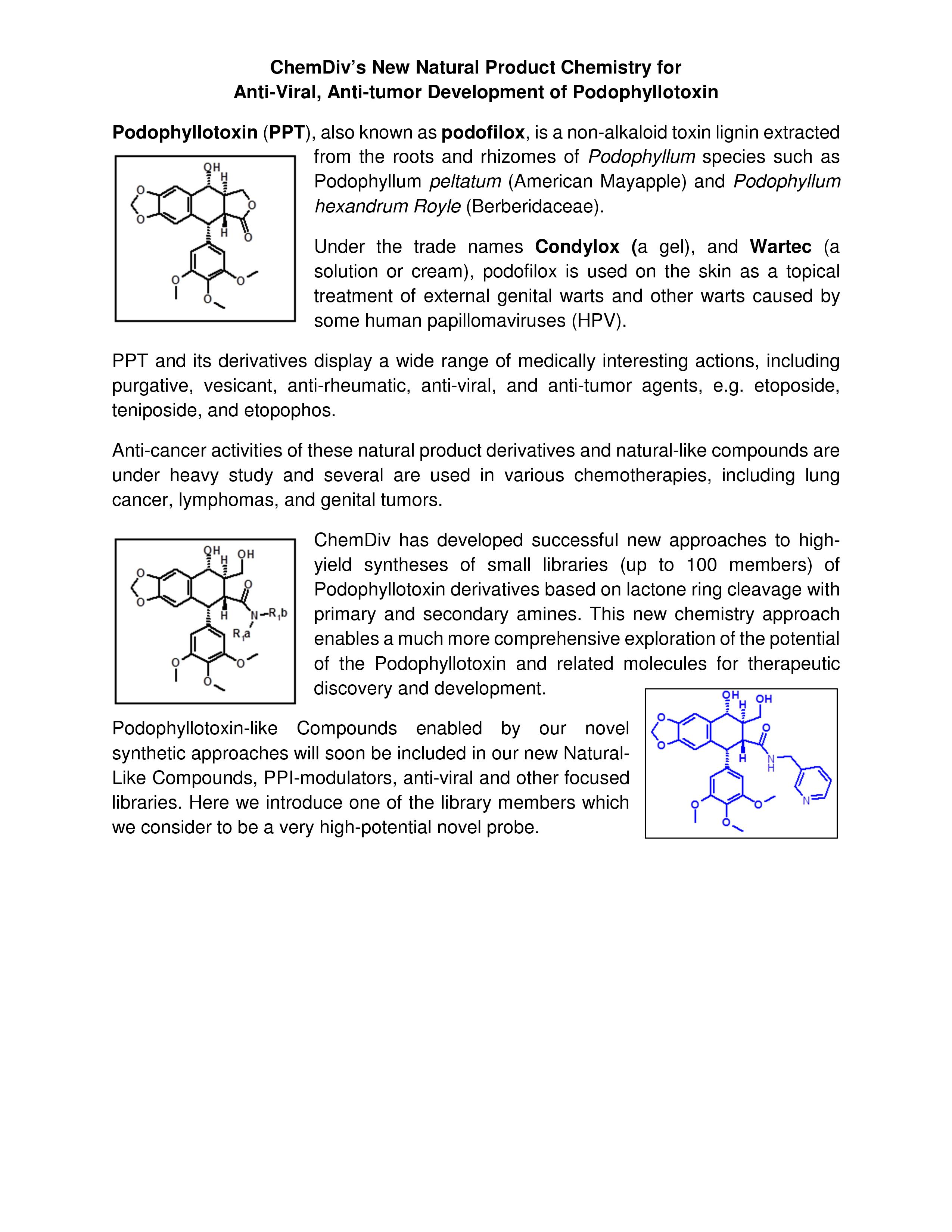 Featured Scaffold Podophyllotoxin (2)