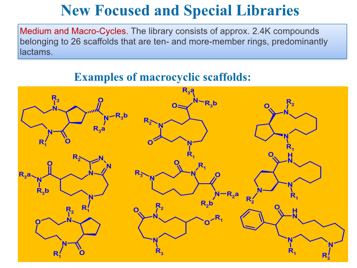 macrocyclic scaffolds