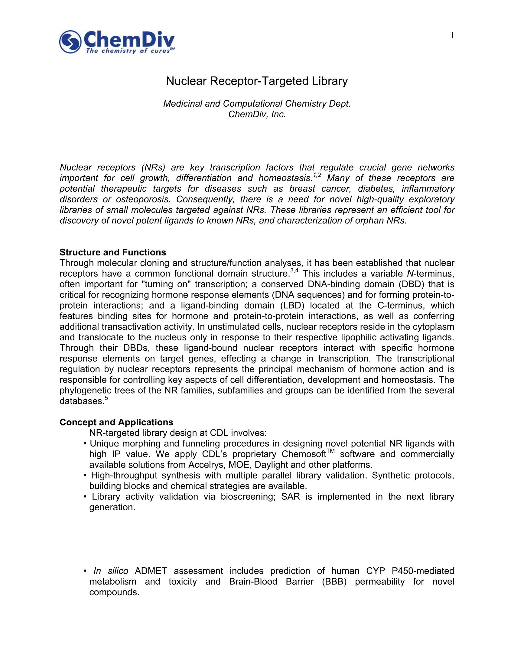 NR-Focused Library - Chemdiv