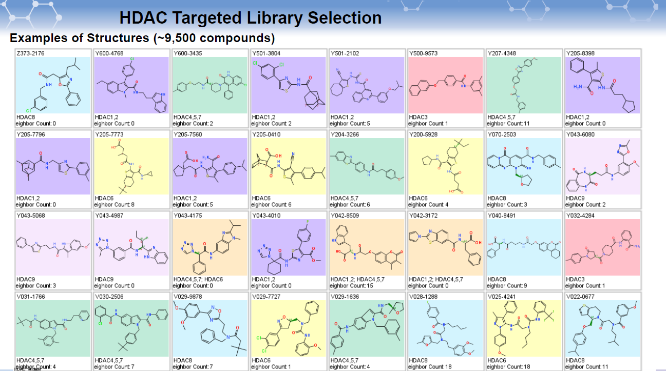 HDAC Targeted Library Selection_examples