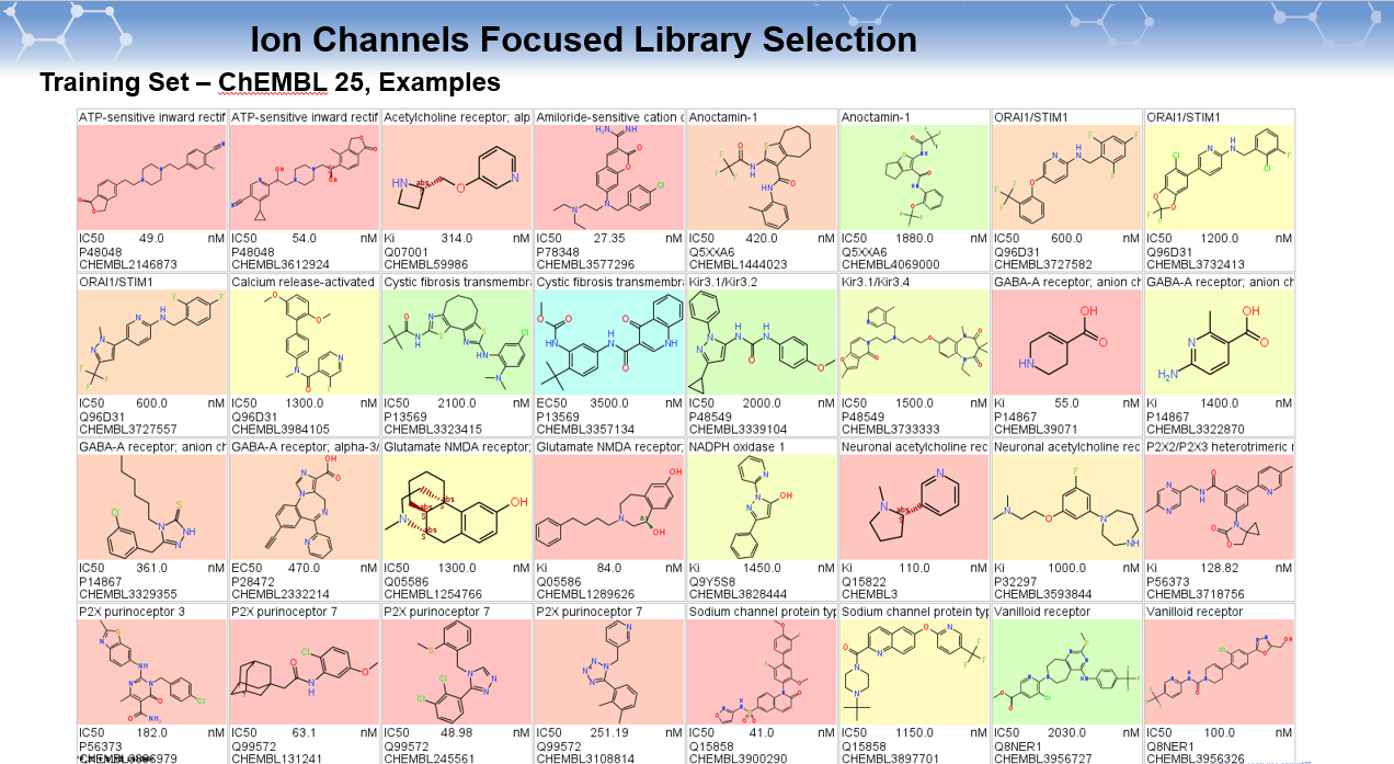 Ion Channels Focused Library Selection_examples